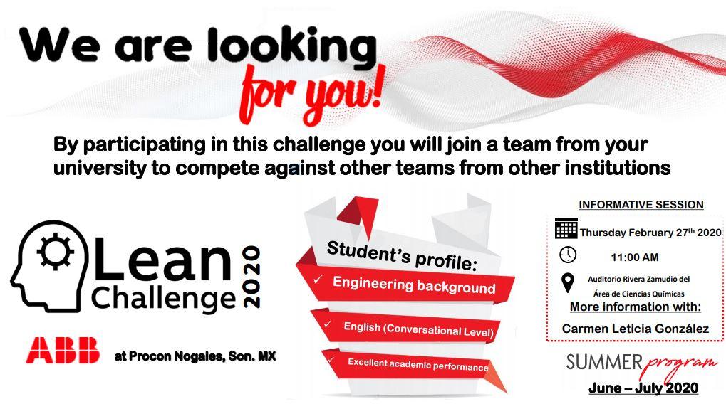 Participa en el ABB Lean Challenge 2020!